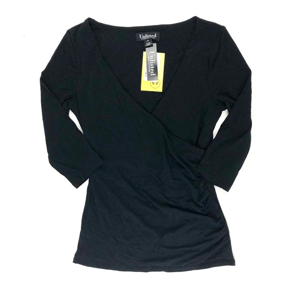 Unlisted by Kenneth Cole Tops - Unlisted by Kenneth Cole black crossover top